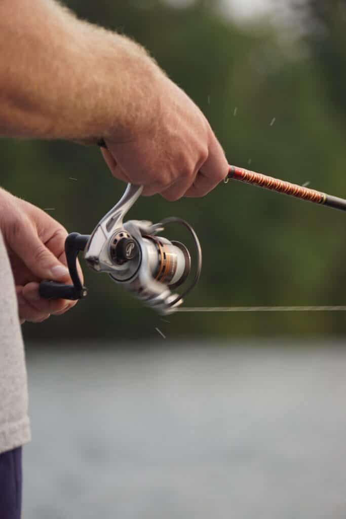 Man using best ultralight spinning reels to fish