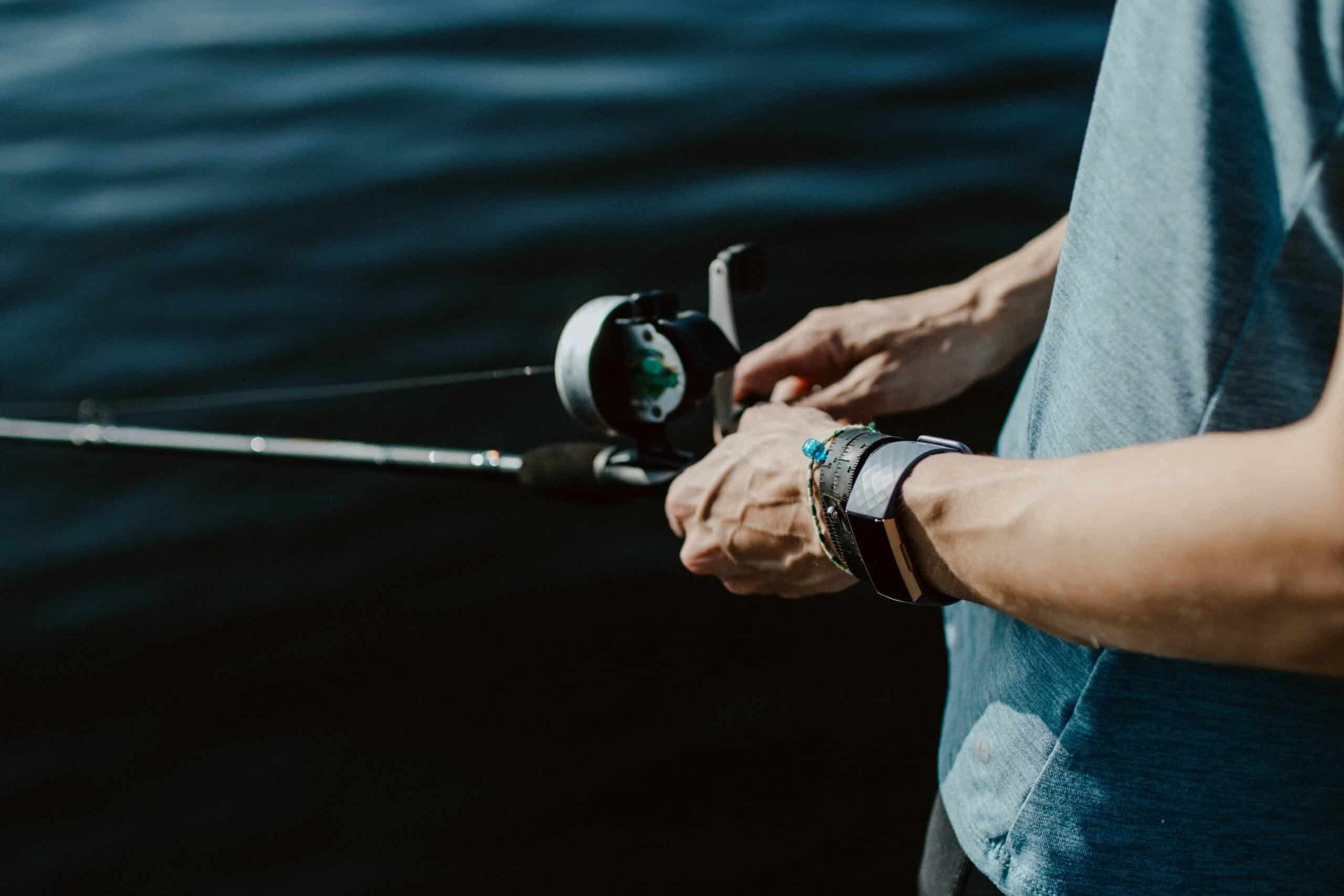 man using one of the best baitcasting reels for beginners