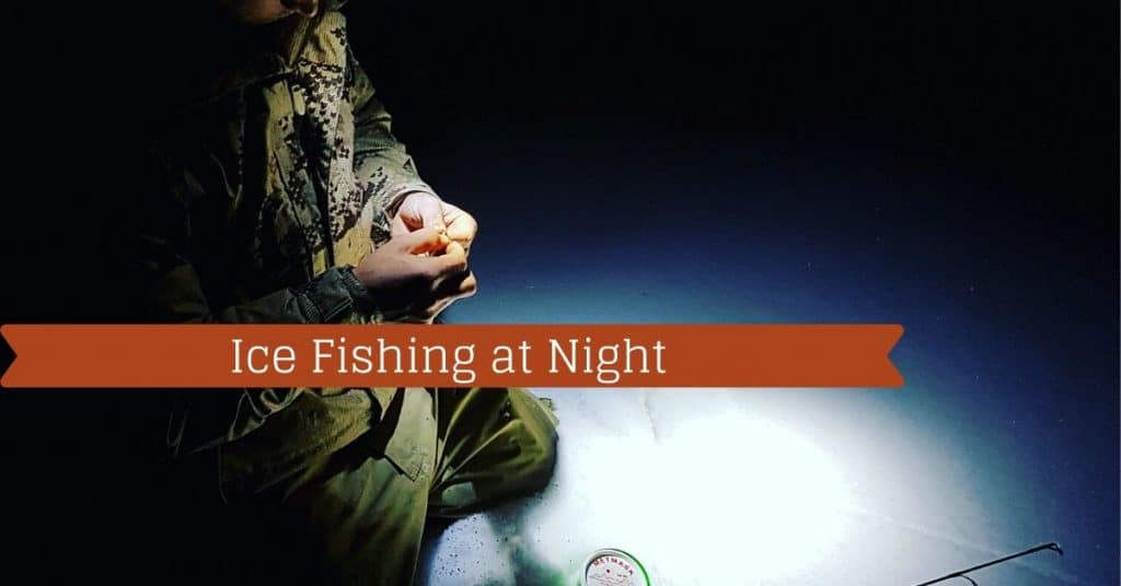 Ice Fishing at Night - Fishstainable