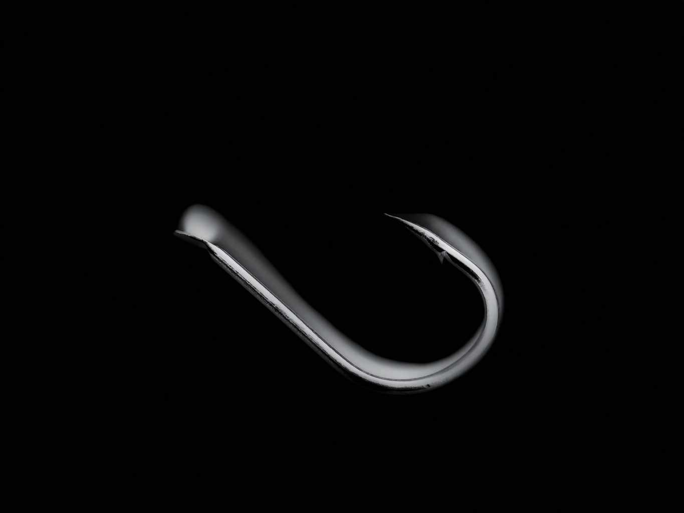 Fishing hook used for snagging fish close up