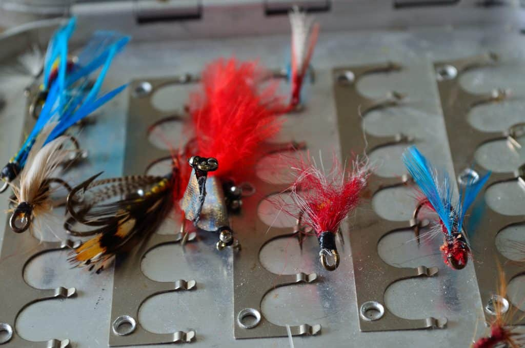 Several self-made flies