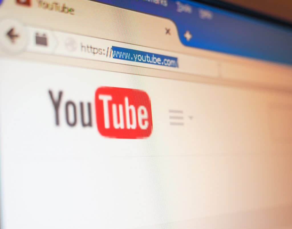 Home page of online video library YouTube