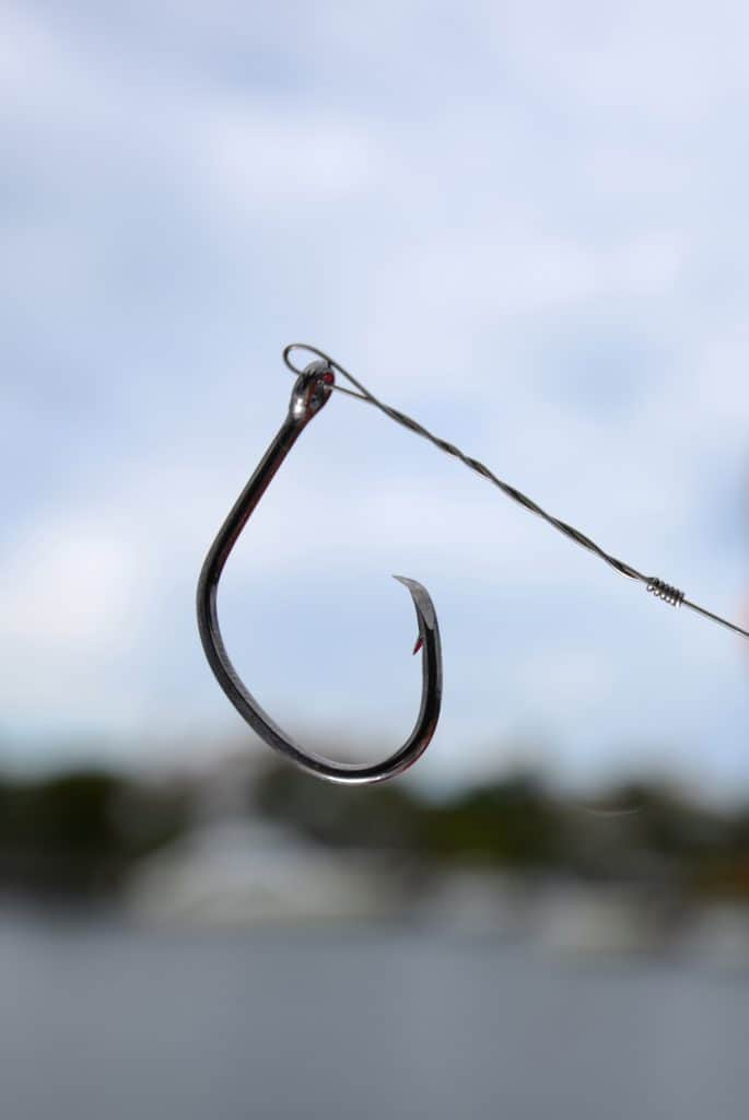 a circle fish hook for a angling