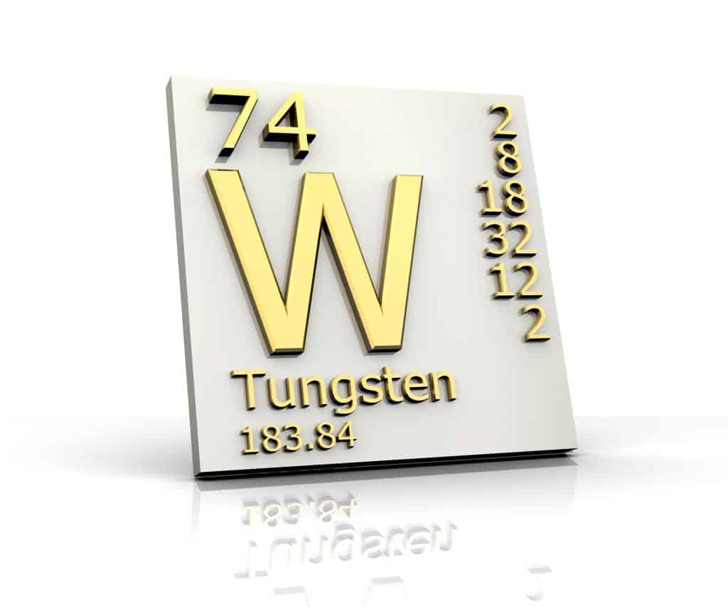 Tungsten form Periodic Table of Elements - 3d made