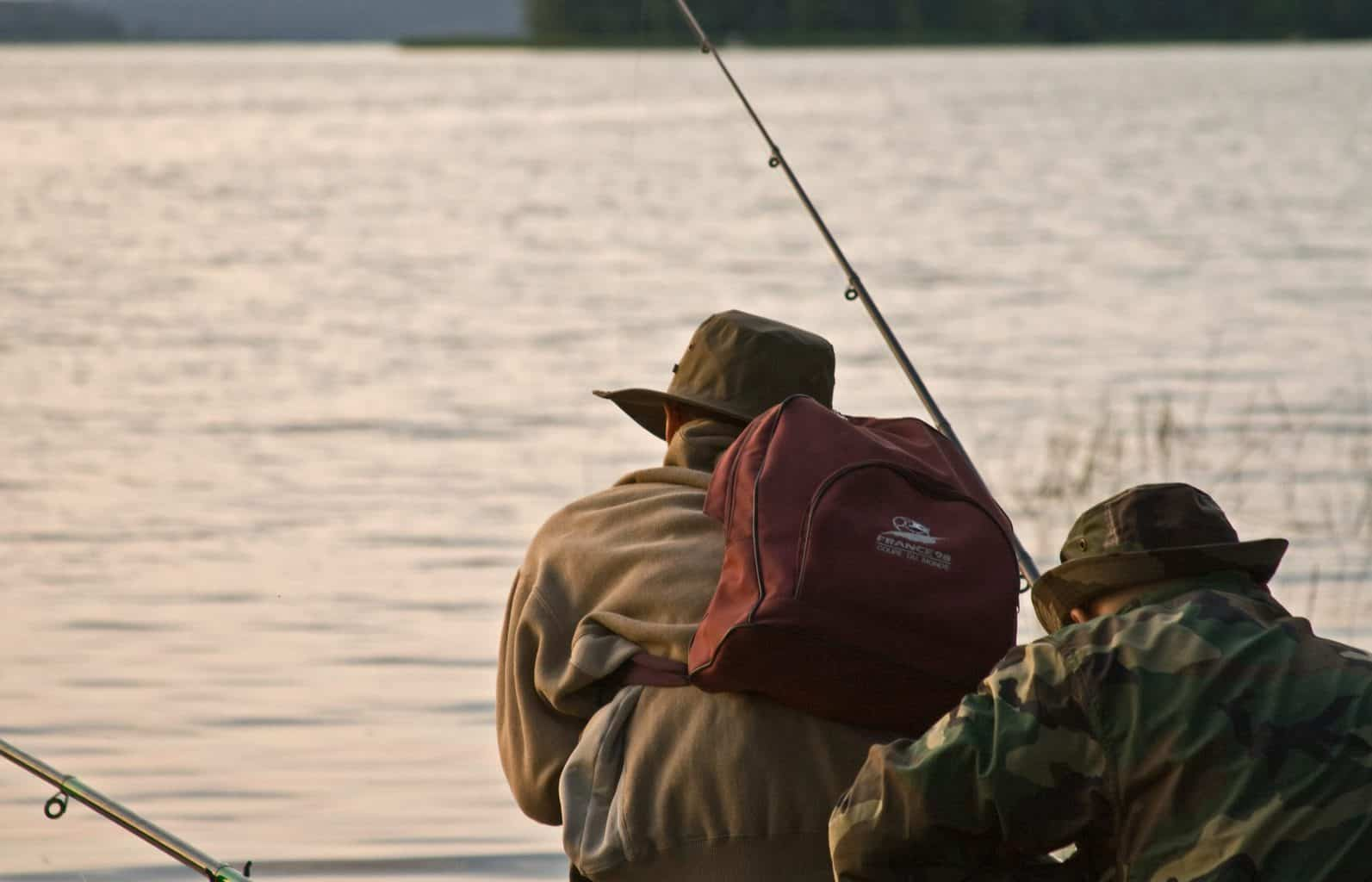 two fishermen waiting patiently for the best time to catch crappie